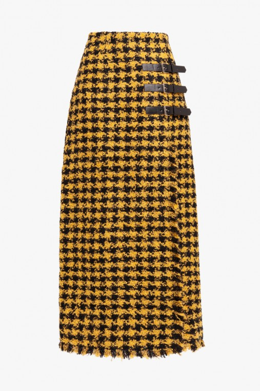 MAXI HOUNDSTOOTH SKIRT