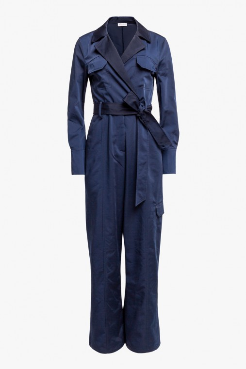 CARGO JUMPSUIT IN TECHNICAL FABRIC