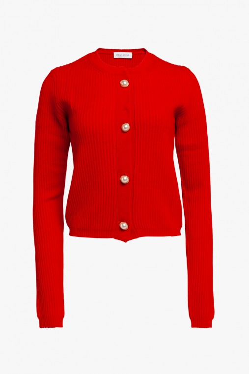 CASHMERE CARDIGAN WITH JEWEL BUTTONS