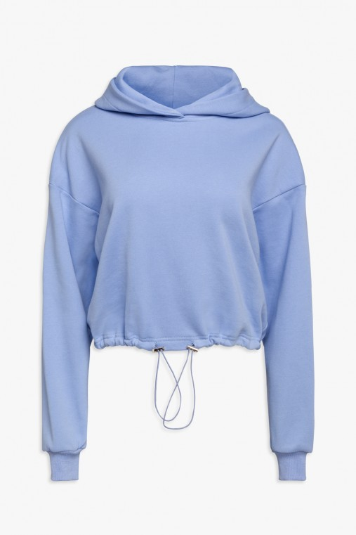 Sweatshirt with hood and drawstring...