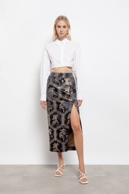 Dragon print skirt