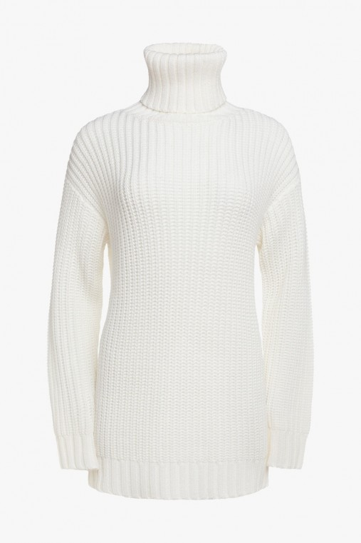 HIGH NECK SWEATER WITH BACK NECK
